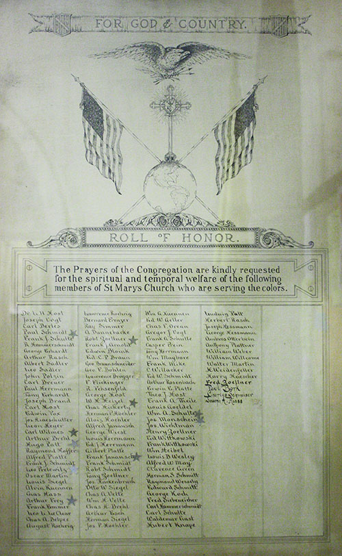 WW1 Roll of Honor